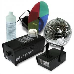 "Licht Komplettset ""Basic"" Nebelmaschine PAR Strahler Disco"