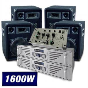 Set DJ PA 2 x Amplificadores 4 x Altavoces Mesa de mezclas