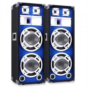"Pair Skytec DJ PA Blue Dual 10"" Passive Speakers - 1600W"