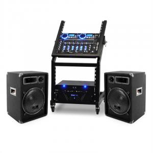 DJ PA Set Rack Star Uranus Blues Bluetooth 250 Pessoas