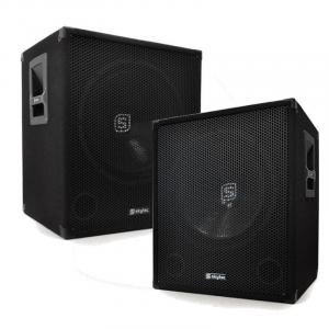 "18"" Active DJ PA Subwoofers 2000W Pair"