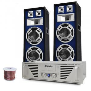 """Bass TiTan"" set DJ con amplificatore, casse 1600W"