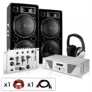 "DJ PA System ""NY Fireblade""- Amplifier Speakers Mixer 2000W"