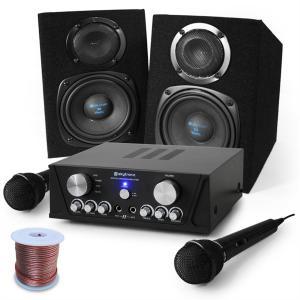 "Equipo karaoke ""Capri Star"" altavoces, micrófono 400W"