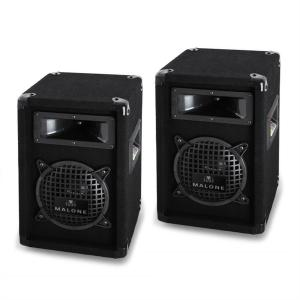 "PW-0622 Passive 6.5"" DJ PA 3-Way Speakers - 500W Pair"