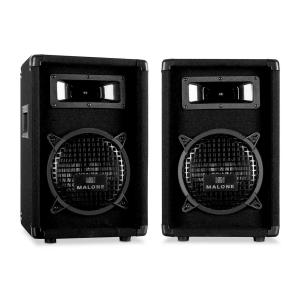"PW-0822 Passive 8"" DJ PA 3-Way Speakers - 600W Pair"