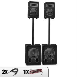 Auna 2.2 Dual Level Passive PA 2 x 600W Woofers 2x 250W PA Speakers