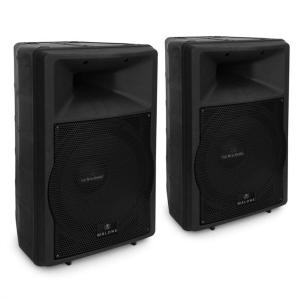 "Pair Auna PW-EV-15A 15"" Active DJ PA Speakers 1500W ABS"