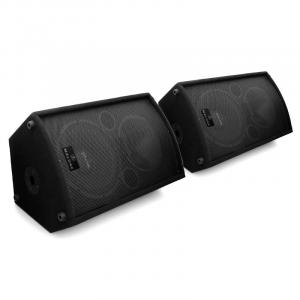 "Pair Malone PW-MON-15A Active DJ PA Monitor Speakers 15"" 3000W"
