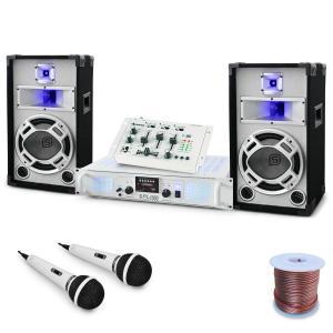 "Set DJ ""Polar Fox"" mixer amplificatore e casse 1500W"
