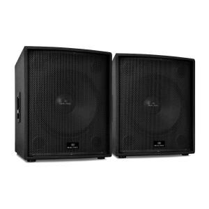 "Två aktiva PA-högtalare 46 cm (18"") Auna 5000 W"