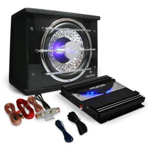 "Car Hifi Set ""Black Line 100"" Subwoofer Eindtrap 1400 W"