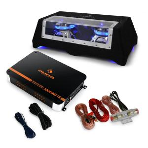 "Set car hi-fi ""Blue Line 120"" subwoofer amplificatore 1600W"