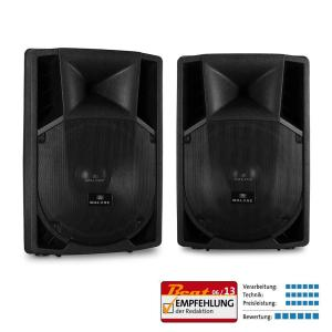 "Pair of Malone 15"" Active PA Speakers 2 x 1500W"