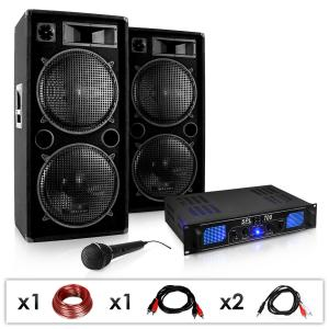 DJ PA System 'DJ-26' Amplifier + PA Speakers Package 2000W
