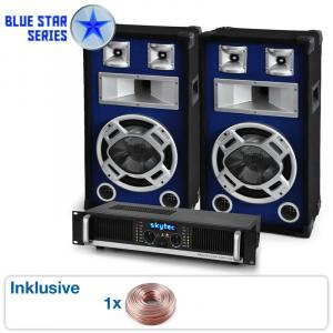 "PA Set Blue Star Series ""Beatbass II"" 1200 watt"