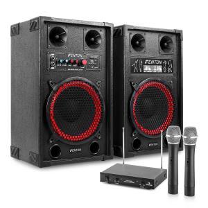 "Chaîne karaoké ""STAR-Neukölln"" Enceintes sono 600 W Micros sans fil VHF 2 canaux"