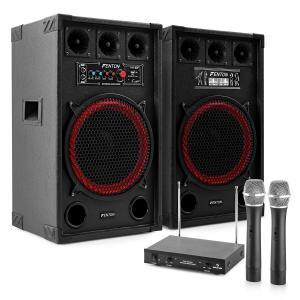 "Karaoke-installatie ""STAR Kreuzberg"" boxen 800W | VHF draadloze microfoonset"