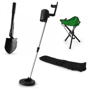 """Basic Green"" Gold Seeker Treasure Hunter Metal Detector Set"