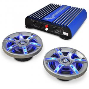 "Car Hi-Fi In Car Audio ""Beat Pilot FX-201"" Speaker Amplifier Set"