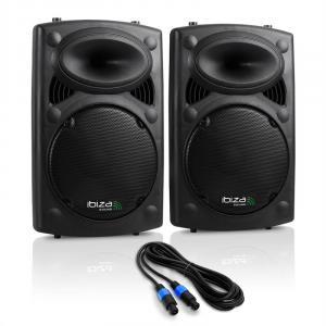 """Kolumny PA Ibiza SLK 2x 25CM (10"""") master slave 900W USB SD"""