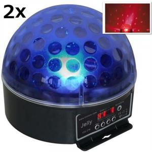 Set di 2 Beamz Magic Jelly Sfera LED RGB Effetto luce DMX