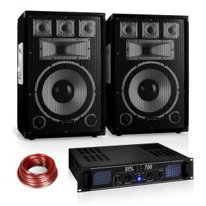 "Disco ""Warm Up Party"" PA Set 700W DJ Amplifier 12"" Speaker Pair"