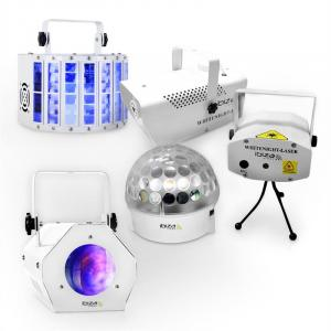 "Ibiza LED DJ Party Lights &Effects Set ""White Light Party II"""