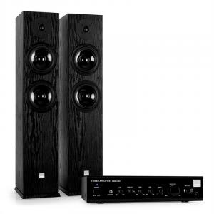 Black HiFi Home Cinema System Amplifier & Black Design Boxes
