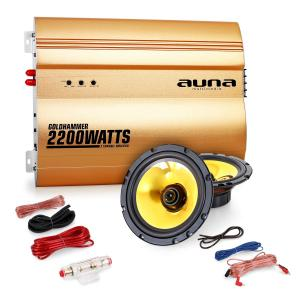 "2.0""Golden Race V1"" Set HiFi coche amplificador altavoces"