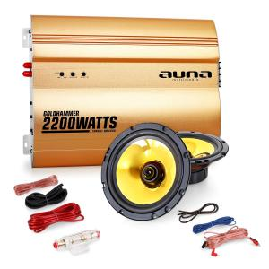 "2.0""Golden Race V2"" Set HiFi coche amplificador altavoces"