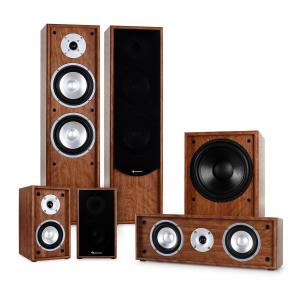 Linie-300-WN 5.1 home cinema sound system 515W RMS - walnoot