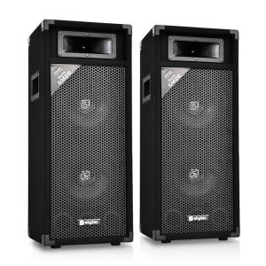SM28 Pair of PA Speakers 500W PA Box 2x20cm