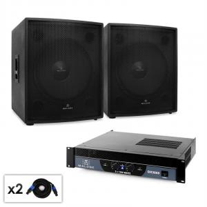"DJ PA Set 2.0 SUB ""Party"" with Two 18"" Subwoofers & Amplifier 3000W"