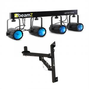 Beamz Light Set 4-Some LED-Lichteffekt-Set 5-tlg. mit Wandhalterung