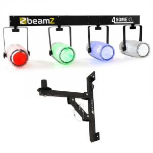 Beamz Light Set 4-Some II LED-lichteffect set 5-dlg. met muurbevestiging