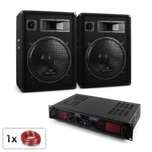 "DJ PA Bluetooth Amplifier with 15 "" Speaker Pair Set"