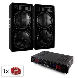 "PA set ""Malone SPL bluetooth MP3"" paar 2x15 luidsprekers en versterker 2000W"