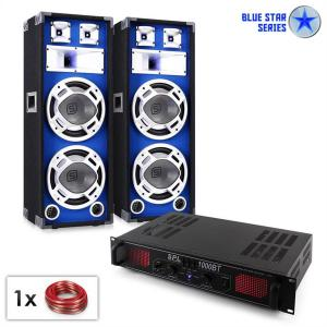 "PA Set Blue Star Series ""Basssound Bluetooth"" 1000W"