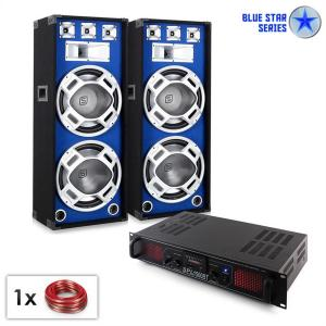 "PA set Blue Star serien ""Beatsound Bluetooth MP3"" 1500W"