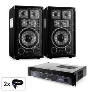 "Conjunto PA Saphir serie ""Warm Up Party TX8"" 2 altavoces de 20cm y amplificador 800W"