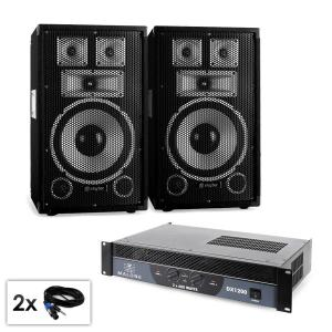 "PA set Saphir Series ""Warm Up Party TX10"" paar 25cm boxen en versterker 1200W"