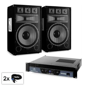 "PA set Saphir Series ""Warm Up Party TX15"" paar 38cm boxen en versterker 2000W"