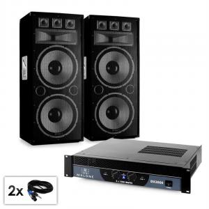 "PA set Saphir Series ""Warm Up Party TX215"" paar 2x38cm boxen en versterker 3000W"