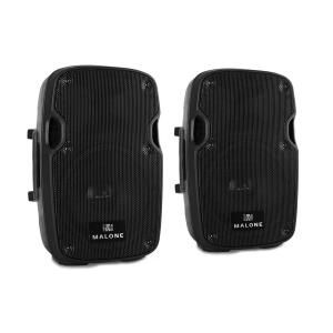 "Malone PW-2908A Pair Active PA Speakers 20cm (8"") 300W"