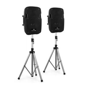 2.0 PA Active Set 2 x Monitor Speaker 2 x Tripod