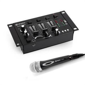 Skytec Mini DJ Set 1 x 3/2-kanalen mengpaneel 1 x handmicrofoon