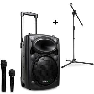 Port8VHF-BT Mobile PA Speaker Bluetooth USB SD 200W RMS with Microphone Stand