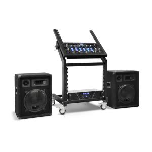 "Conjunto de PA DJ Rack Star Series ""Pluto Gravity"" Bluetooth 200 Pessoas"