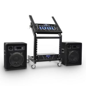 DJ PA Sound System Rack Star Series Mercury Beat Set 250 people